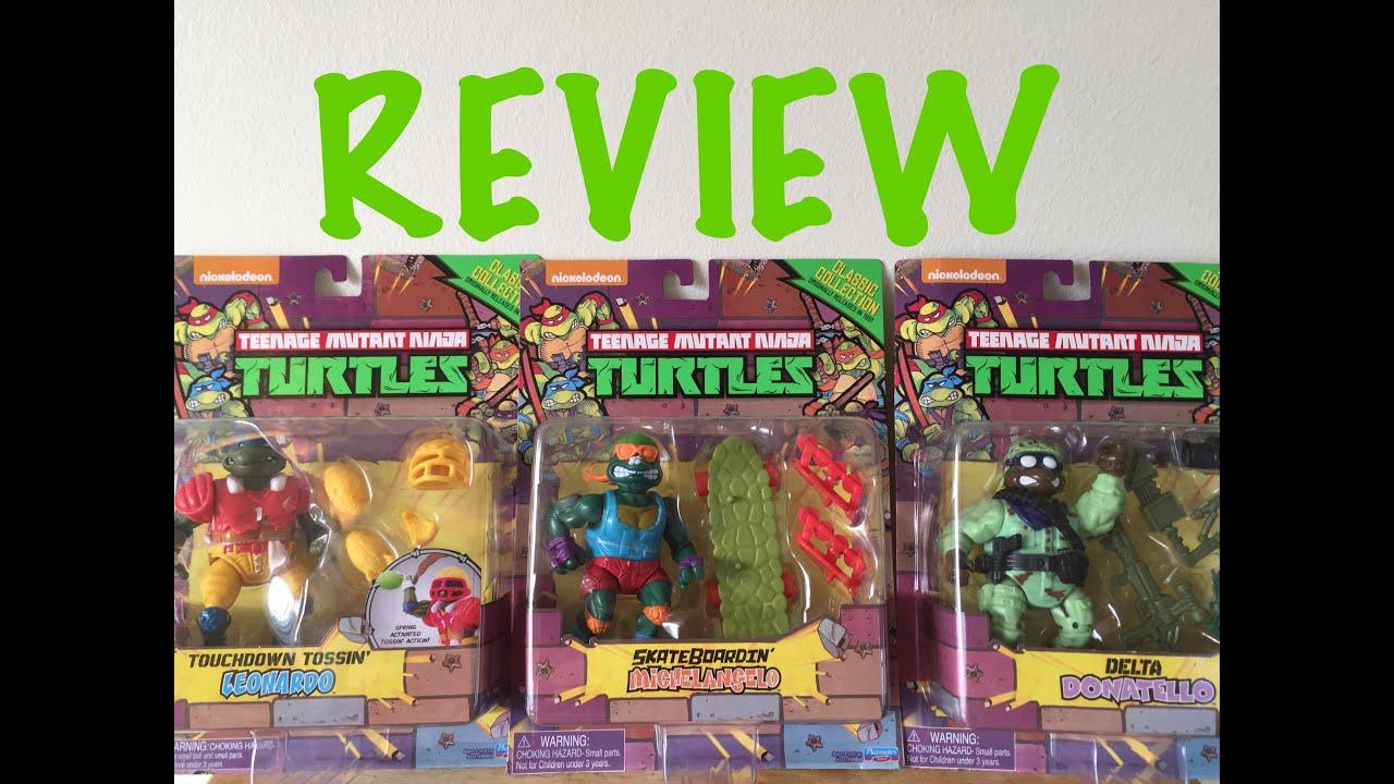 Retro review teenage mutant ninja turtles ii secret of the ooze - Skateboardin Mikey Delta Donatello Touchdown Tossin Leo Ninja Turtles Figure Review Youtube