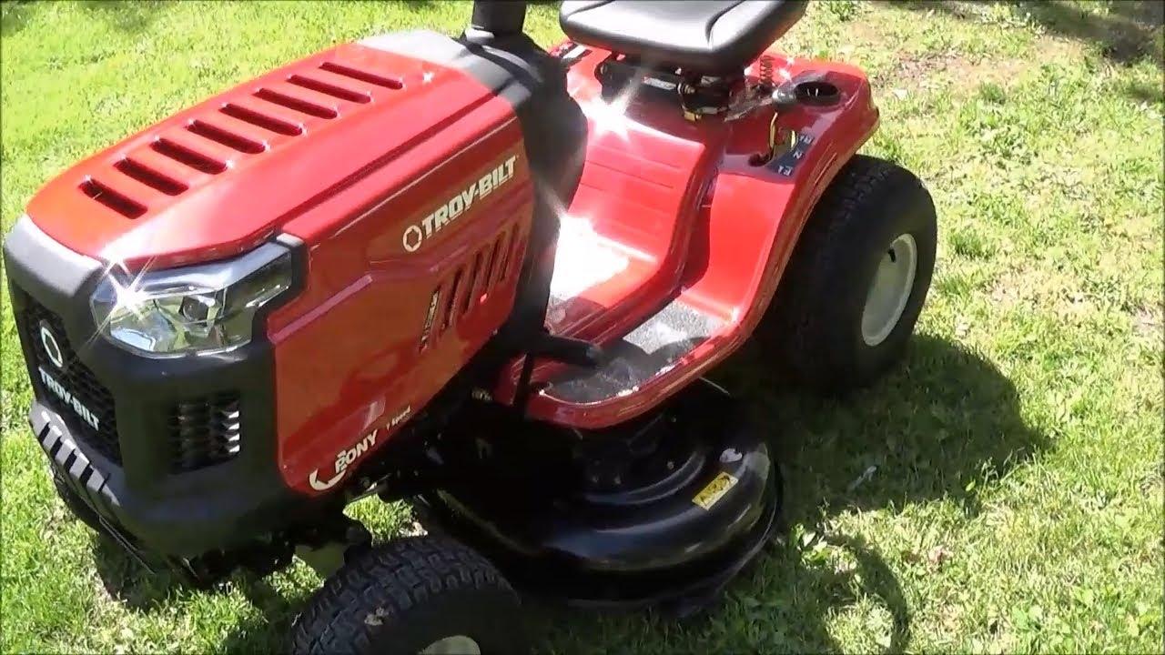 troy bilt pony 17 5 hp manual 42 500cc cutting deck riding lawn mower 13an77bs011 lowes 806305 [ 1280 x 720 Pixel ]