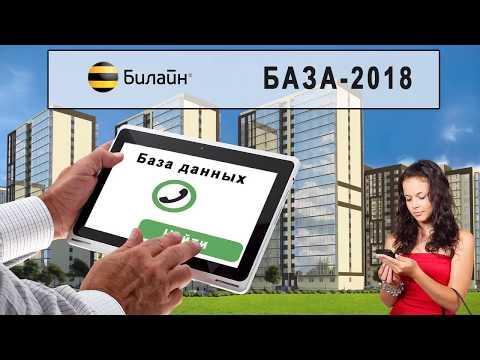 База абонентов Билайн 2018