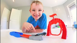 Father & Son TEST 5$ CAR LAUNCHER! / Flame Ring Of Doom!