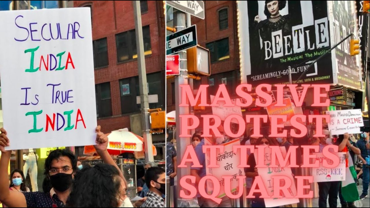 Massive protests disrupt Times Square celebration of hate and ...