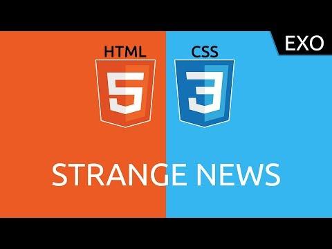 Exo HTML/CSS #5 - Strange News