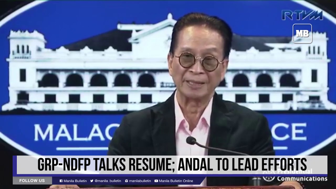 GRP-NDFP talks resume; Andal to lead efforts
