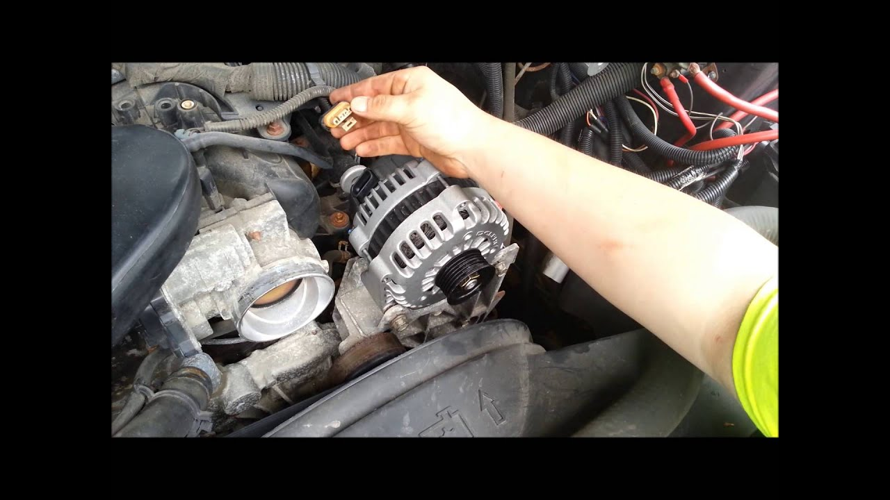 alternator replacement silverado gm ls engine 6 0 5 3 4 8 youtube chevy truck wiring 2002 gmc alternator wiring #11