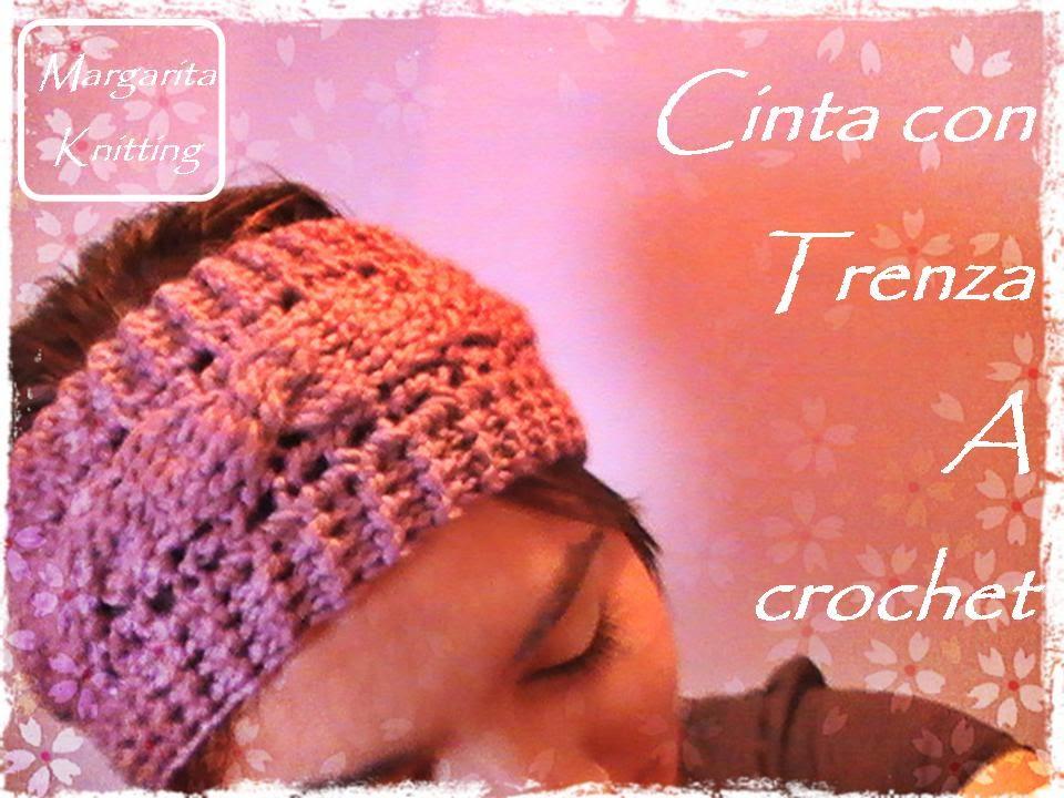 Cinta para el pelo con trenza a crochet (zurdo) - YouTube