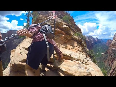 SKETCHY HIKE in Zion - Angel's Landing Top Section (Turn back now if afraid of heights)