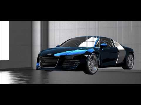 3Ds Max Audi R8 animation