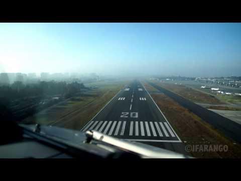 Guatemala - La Aurora (MGGT/GUA) VOR Approach Runway 20 Cockpit view