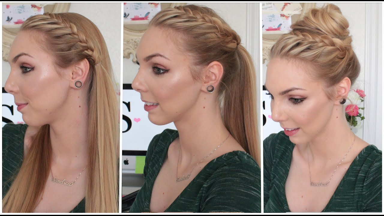 Tutoriel 3 coiffure en 1 matin apr s midi et soir youtube - Coiffure facile a faire le matin ...