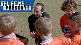 Gambar cover Drew Brees Loves His Second Job: Kids Flag Football Coach | NFL Films Presents