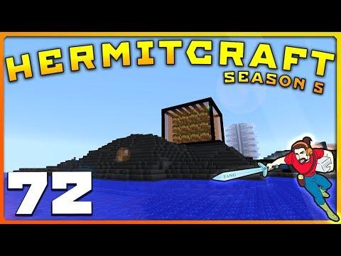 HermitCraft 5   CLIFFSIDES & OVER THE TOP STORAGE!    Ep 72    Minecraft Vanilla 1.12