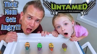 The Pond Monster Eggs Hatched!!! These Untamed Creatures Mom Chases Us! *DINOSAUR FINGERLINGS*