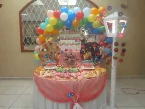 mesa de dulces xv a os tem tica divertilandia youtube