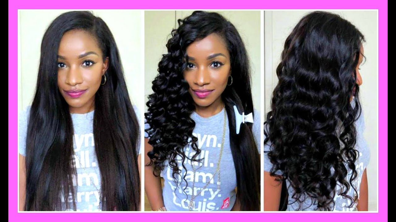 Straight To Curly W Clip InsEasy Curling Tutorial Using