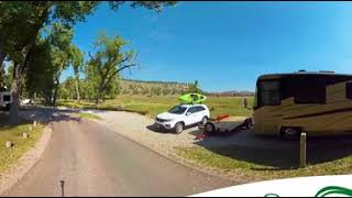 Devils Tower National Monument Belle Fourche Campground - Explore the Campground 360 VR Tour