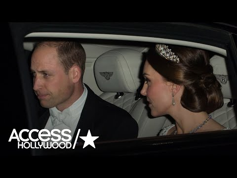 Kate Middleton Sparkled In Princess Diana's Tiara For The Queen's Diplomatic Reception | Access Holl