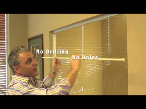 How to Install a Spring Tension Curtain Rod