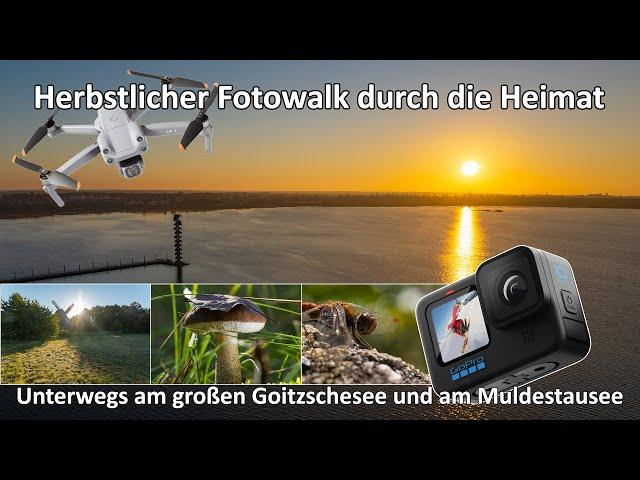 Ein Tag im Herbst - Herbstlicher Fotowalk in der Heimat - Timelapse - GoPro 10 - Goitzschesee