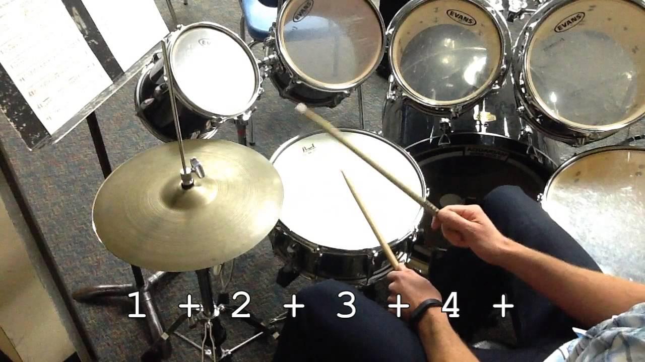 Drum Set Rock Beat In 4 Youtube