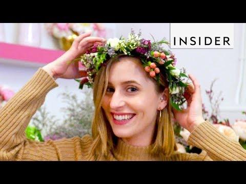 Florist Turns Flowers into Jewelry