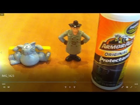 1983 Bandai/Galoob Inspector Gadget & Cleaning Sticky PVC figures - Mike Plays with Toys #96
