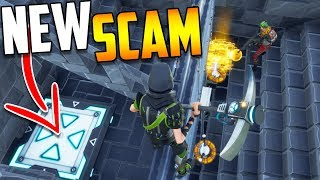 *NEW SCAM* The SECRET Jump Pad SCAM (Scammer Gets Scammed) - Fortnite Save The World