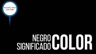 Negro - Significado del color Negro
