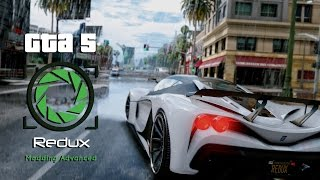 """Gta 5 best graphics mod""Redux mod installation easiest way to install everything fully functional."