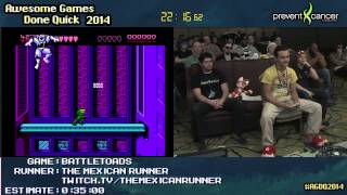 Battletoads NES :: SPEED RUN (0:32:45) Live by The Mexican Runner #AGDQ 2014