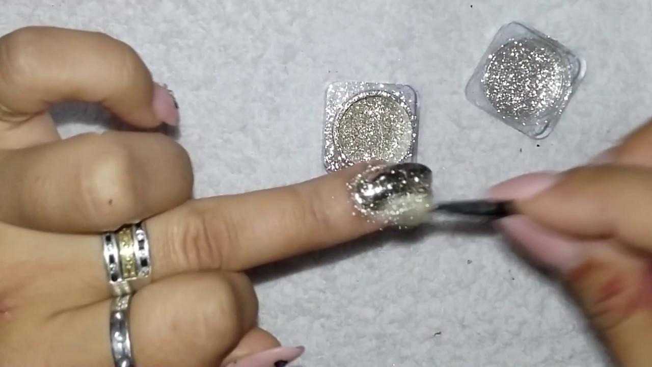 Uña Cromada - Polvo Espejo - YouTube