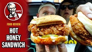 KFC's Hot Honey Chicken Sandwich Food Review   THE WORST TO DATE?!