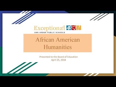 AAPS High School African American Humanities Courses Overview
