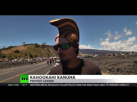 Hawaiians protest telescope on 'sacred land'