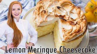 Triple Lemon Meringue Cheesecake