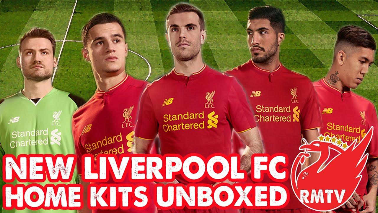 11228f3427b New Balance Liverpool Home Kit 2016 17 Unboxing!