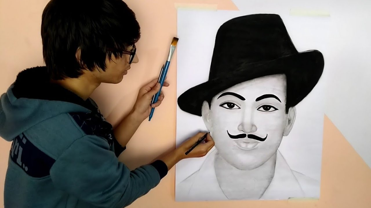 Drawing bhagat singh republic day special