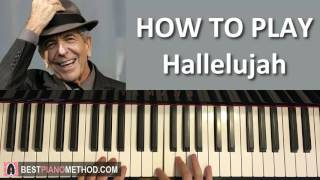 HOW TO PLAY - Leonard Cohen - Hallelujah (Piano Tutorial Lesson)