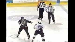 ahl manchester utah hockey fight george parros vs mike sgroi 12 19 03