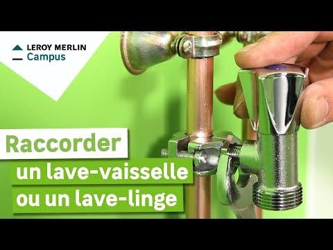 Comment Raccorder Un Lave Vaisselle Ou Un Lave Linge Leroy Merlin Youtube
