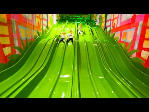 Thumbnail: Fun for Kids at Andy's Lekland Indoor Playground (family fun)