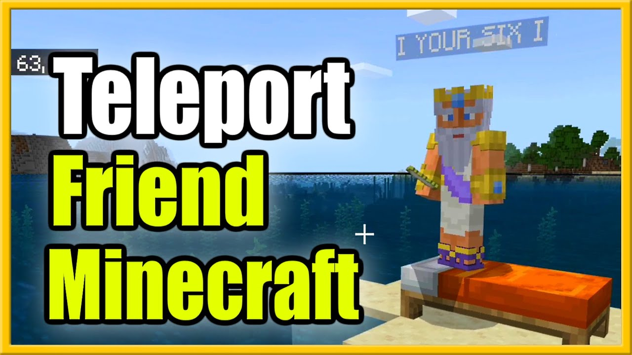 Как телепортировать кого-то к вам в Minecraft