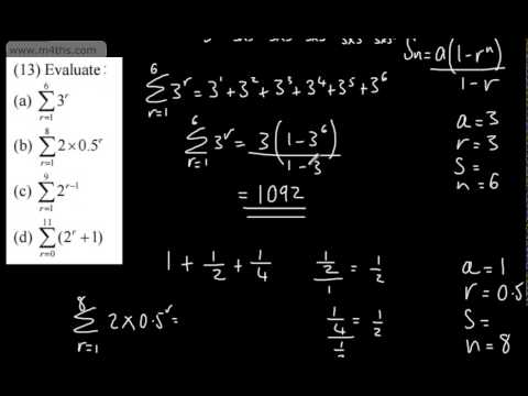 Printables Sigma Notation Worksheet core 2 geometric sequences and series 5 sigma notation youtube notation