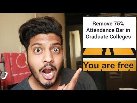 REMOVE 75% Attendance Bar in Graduate Colleges