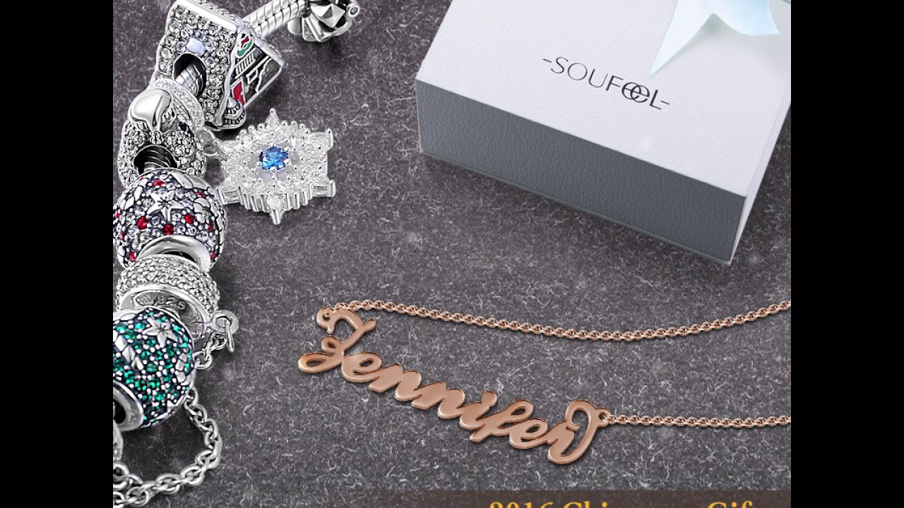 c3b9de3042634 Soufeel Rose Gold Personalized Name Necklace -GZNL - YouTube