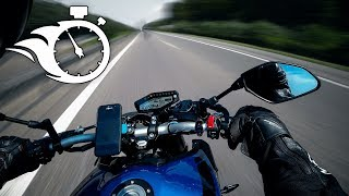 YAMAHA MT 09 ON AUTOBAHN - TOP SPEED AND ACCELERATION 🔥