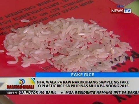 NFA: Wala pa raw nakukuhang sample ng fake o plastic rice sa Pilipinas mula pa noong 2015