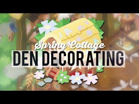 Decorating the Spring Cottage Den | Animal Jam