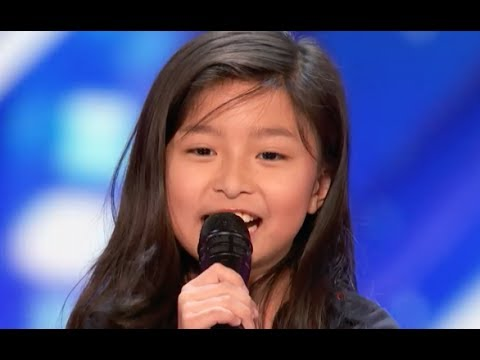 9 YO Little Girl Shocks The Entire Stage with My Heart Will Go On  Week 4  Americas Got Talent