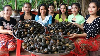 Wow amazing cooking 35 kg snail recipe in my family