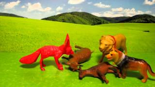 Лев, Волк и Лиса     Аварская сказка